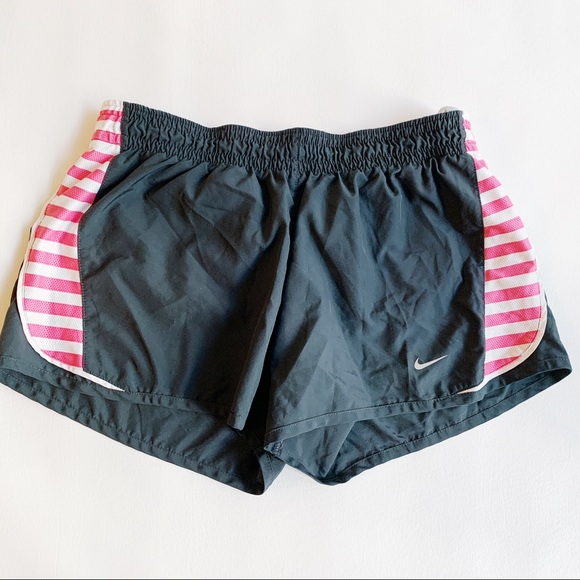 Nike Pants - NIKE Black & Pink Athletic Shorts Medium